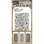 Stampers Anonymous - Tim Holtz - Mini Stencil Set #24