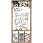 Stampers Anonymous - Tim Holtz - Mini Stencil Set #25