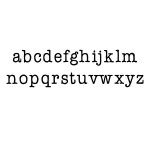 Ken Oliver - Pegz - Alphabet Stamp Set Lowercase - Large
