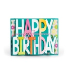 Sizzix - Framelits Die Set 3 Pack - Card - Happy Birthday Drop-ins by Stephanie Barnard