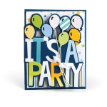 Sizzix - Framelits Die Set 6 Pack - Card - It's a Party Drop-ins by Stephanie Barnard