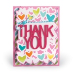 Sizzix - Framelits Die Set 4 Pack - Card - Thank You Drop-ins by Stephanie Barnard