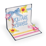 Sizzix - Thinlits Die Set 4 Pack - You Are Loved 3-D Drop-ins by Stephanie Barnard
