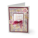 Sizzix - Thinlits Die - Floral Label by David Tutera