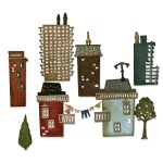 Sizzix - Thinlits Die Set 34 Pack - Cityscape - Suburbia by Tim Holtz