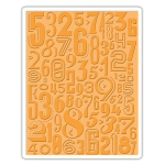 Sizzix - Texture Fades Embossing Folder - Numeric by Tim Holtz