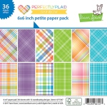 Lawn Fawn - Lawn Fawndamentals - Perfectly Plaid Rainbow - Petite Paper Pack 6x6