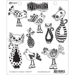 Ranger - Dyan Reaveley - Dylusions - Cling Stamps - Cat Among the Pigeons