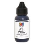 Ranger - Dina Wakley Media - Heavy Body Acrylic Paints - 1 oz Bottled Paints - Night