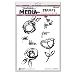 Ranger - Dina Wakley Media - Stamps - Abstract Blooms