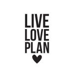 Simple Stories - Carpe Diem - Live Love Plan Black Planner Decal