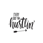 Simple Stories - Carpe Diem - Im Hustlin Black Planner Decal