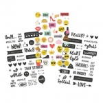Simple Stories - Carpe Diem - Emoji Love - Clear Sticker Sheets