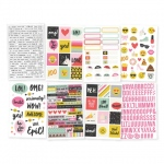 Simple Stories - Carpe Diem - Emoji Love - 4x6 Sticker Sheets