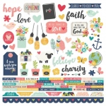 Simple Stories - Carpe Diem - Faith - Combo Sticker Sheet