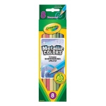 Crayola® Metallic Colored Pencil 8-Color Set: Metallic, Colored, (model 68-3708), price per pack