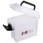 "Artbin® Micro Sidekick: Clear, Plastic, 9 1/4""l x 4 1/4""w x 6""h, (model 6915AG), price per each"