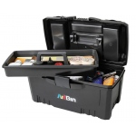 "Artbin® Twin Top: Black/Gray, Plastic, 17""l x 8 1/2""w x 8 1/2""h, (model 6918AB), price per each"