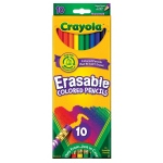 Crayola 10-Color Erasable Colored Pencil Set