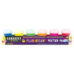 Sargent Art® Fluorescent Poster Paint Set; Color: Multi; Format: Jar; Type: Tempera; (model 665522), price per set