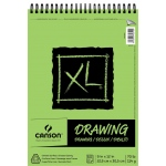 "Canson® XL® 9"" x 12"" Drawing Pad (Top Wire): Wire Bound, White/Ivory, Pad, 60 Sheets, 9"" x 12"", Smooth, (model C100510936), price per 60 Sheets pad"
