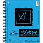 "Canson® XL® 9"" x 12"" Mix Media Pad (Side Wire): Wire Bound, White/Ivory, Pad, 60 Sheets, 9"" x 12"", (model C100510927), price per 60 Sheets pad"