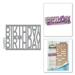 Spellbinders - Shapeabilities - Happy Birthday Easel Dies