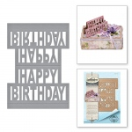 Spellbinders - Shapeabilities - Happy Birthday Pop-Up Dies