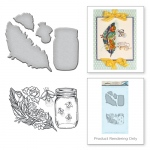 Spellbinders - Feather Fireflies Stamp & Die Set