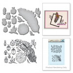 Spellbinders - Feather and Beetles Stamp & Die Set