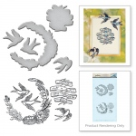 Spellbinders - Swallow Stamp & Die Set