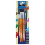Sargent Art® Quality Brush Assortment 5-Pack: Natural, Flat, Round, Acrylic, Oil, Stain, Tempera, Watercolor