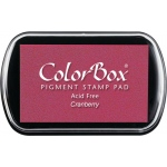 ColorBox® Full Size Ink Pad Cranberry: Red/Pink, Pad, Pigment, Full Size Rectangle, (model CS15025), price per each