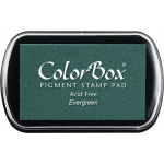ColorBox® Full Size Ink Pad Evergreen: Green, Pad, Pigment, Full Size Rectangle, (model CS15023), price per each