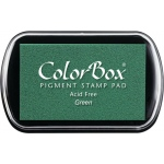 ColorBox® Full Size Ink Pad Green: Green, Pad, Pigment, Full Size Rectangle, (model CS15021), price per each