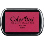 ColorBox® Full Size Ink Pad Scarlet: Red/Pink, Pad, Pigment, Full Size Rectangle, (model CS15014), price per each