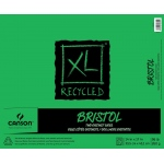 "Canson® XL® 14"" x 17"" Recycled Bristol Pad (Fold Over): Fold Over, White/Ivory, Pad, 25 Sheets, 14"" x 17"", Smooth, Vellum"