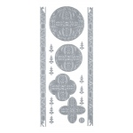"Blue Hills Studio™ DesignLines™ Outline Stickers Silver #28: Metallic, 4"" x 9"", Outline"