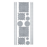 "Blue Hills Studio™ DesignLines™ Outline Stickers Silver #34: Metallic, 4"" x 9"", Outline"
