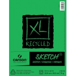 "Canson® XL® 9"" x 12"" Recycled Sketch Pad (Fold Over): Fold Over, White/Ivory, Pad, 100 Sheets, 9"" x 12"", Medium, (model C100510921), price per 100 Sheets pad"