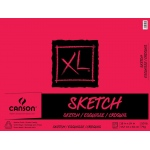 "Canson® XL® 18"" x 24"" Sketch Pad (Fold Over): Fold Over, White/Ivory, Pad, 125 Sheets, 18"" x 24"", (model C100511076), price per 125 Sheets pad"