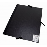 "Cachet® 17"" x 22"" Classic Portfolio: Black/Gray, Fiberboard, Paper, 17"" x 22"", (model CS471301722), price per each"