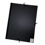 "Cachet® 23"" x 31"" Classic Portfolio: Black/Gray, Fiberboard, Paper, 23"" x 31"", (model CS471302331), price per each"