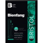 "Bienfang® 14 x 17 Vellum Finish White Drawing Bristol Board Pads: Vellum, Pad, 20 Sheets, 14"" x 17"", 146 lb, (model 527K-140), price per 20 Sheets pad"