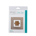 Thermoweb - Gina K Designs - 3 Nested Square Dies Large Set - Single Stitch Design