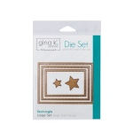 Thermoweb - Gina K Designs - 3 Nested Rectangle Dies Large Set - Single Stitch Design