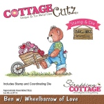 CottageCutz - Ben with Wheelbarrow of Love Stamp & Die Set