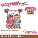 CottageCutz - Chloe & Ben on Swing Stamp & Die Set