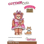 CottageCutz - Chloe with Kitty Stamp & Die Set