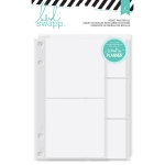 American Crafts - Heidi Swapp - Memory Planner - Binder Pocket Page Refills 6 Pack Clear Assorted
